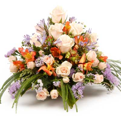 Called: Fallen Angel. Description: This bountiful arrangement is perfect for that special someone.