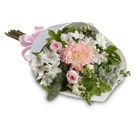 Called: Pure Elegance. Description: This simple yet elegant bouquet is perfect for any occasion.
