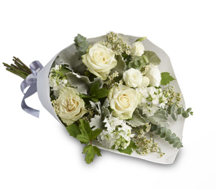 Called: Peace. Description: A fusion of tradition and nature to create a striking bouquet.
