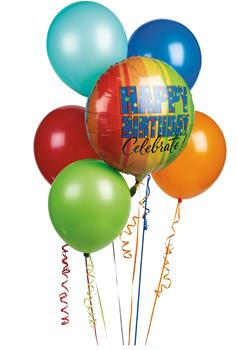 Called: Balloon Bouquet. Description: A bouquet of bright balloons, is sure to get that special someone back on their feet in no time.