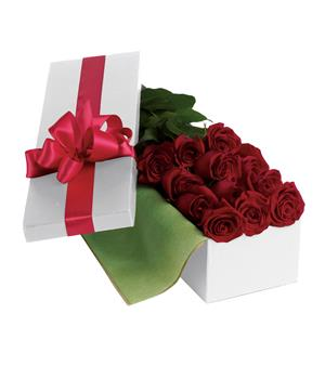 Called: Roses For You. Description: Nothing says romance like one dozen long-stemmed red roses hand-delivered in an elegant gift box.