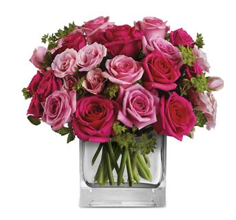 Called: Fairytale Ending. Description: This exquisite arrangement of light pink and hot pink roses, is a gift that will long be remembered.