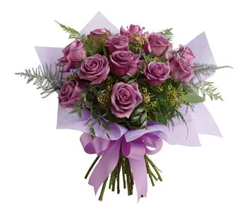 Called: Lavender Wishes. Description: The luxurious choice for the lavender lover in your life, this dazzling dozen will win their heart with its delicate greens and sweet scent.