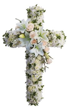 Called: Divine Light. Description: Your message of hope for eternal serenity is delivered ever so elegantly in this graceful cross. Your sincerity will be acknowledged by all who are present.