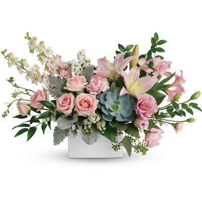 Called: Universal Love. Description: Wildly sophisticated, this beautiful bouquet is a thoughtful way to say