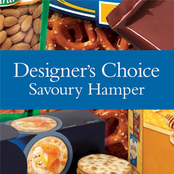 Code: D24. Name:Kamo Store Savoury Hamper. Description: Let our designer make up a savoury hamper using locally sourced savoury goodies. Price: NZD $124.90 - Category: Shop Choice
